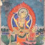 Bagalamukhi Matrika, 19th century Painting